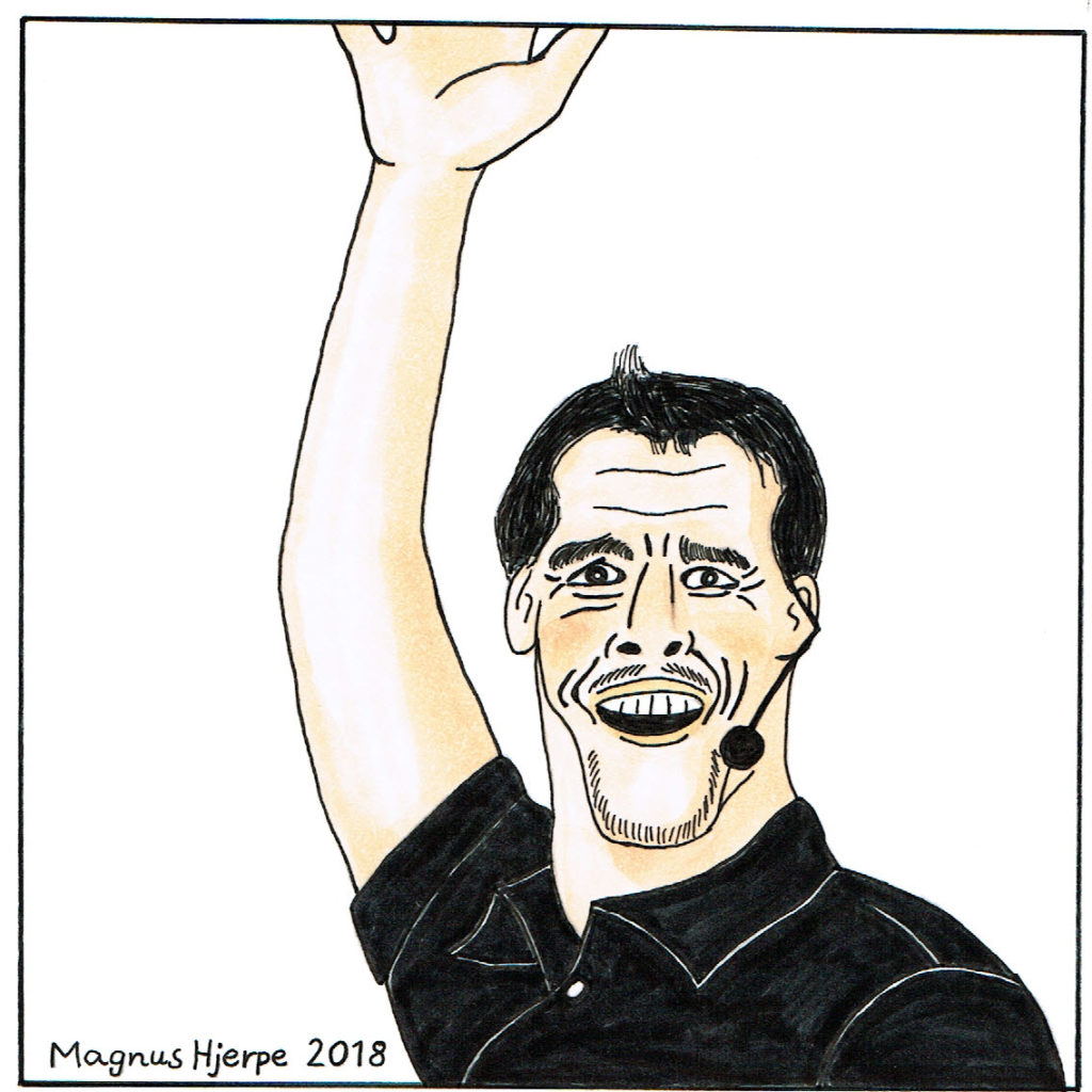 Karikatyr av Tony Robbins